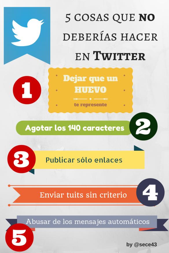 5 cosas que no debes hacer en Twitter